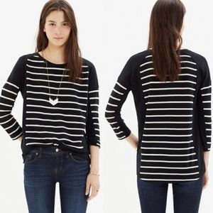 Madewell Stripeset Sweater Cream & Black Size M
